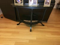 black wooden framed glass top table Seminole, 33772