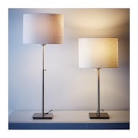 Table lamp with LED bulb, nickel plated, white Rockville, 20852