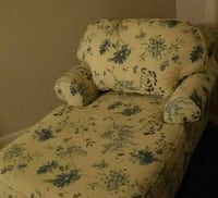 Yellow,blue floral fabric sofa,chaise Stewartstown, 17363