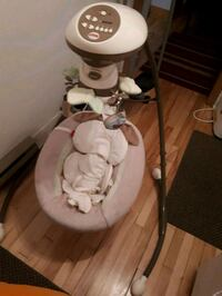white and gray Fisher-Price cradle n swing Montréal, H4H 2E4