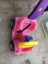 pink and purple Step 2 ride on push car
