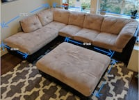 Sectional couch with ottoman Issaquah