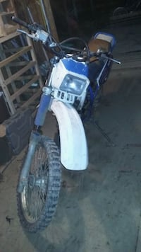 blue and white standard motorcycle Wallace, 26448