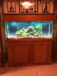 brown wooden framed fish tank Brandywine, 20613