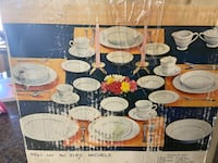 New 55 pieces fine set dinner served for eight people. Gretna, 70056