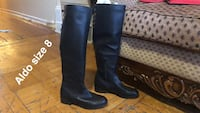 pair of black leather knee-high boots Oyster Bay, 11801
