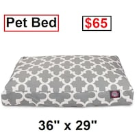 AJ - BRAND NEW - Trellis Rectangular Pillow Pet Bed Mississauga