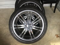 "3 - 20"" 5 lug wheels Germantown, 20876"