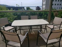 Patio table and 6 chairs West Vancouver
