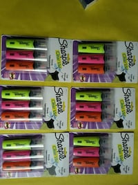 Six Packs of Sharpie clear view highlighters Brampton