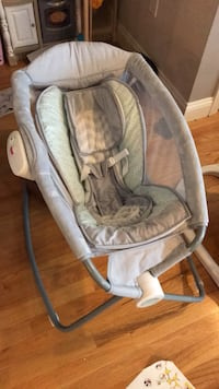 Baby's gray and white bouncer Waltham, 02451