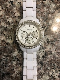 White Fossil watch Fishers, 46038