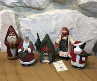 Lot of Xmas Figurines incld House of Hatten