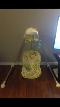 green and white Fisher-Price cradle n swing Calgary, T1Y 2W6