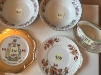 Assortment of Vintage China Surrey, V4N 3E3