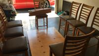 Brown wooden dining table set North Charleston, 29420