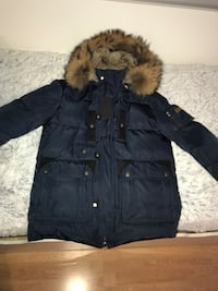 svart zip-up parka jakke Langhus, 1405