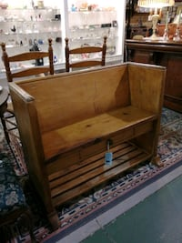 Church pew with drawer. D33 Innisfil, L9S 3V9