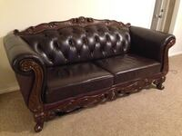 brown leather 3-seat sofa Parker, 80134