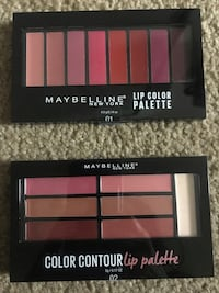 Maybelline lip color palette both for $15 Bloomfield Hills, 48304