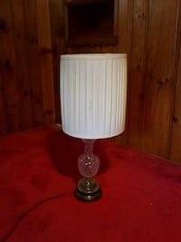 Glass base table lamp, white shade Penns Grove, 08069
