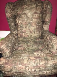 brown and gray floral sofa chair Toronto, M3A