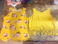 yellow and white floral tank top Hope Mills, 28348