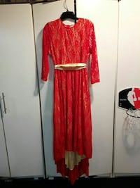 Red Lace high low front dress size 8 Ontario, M9V 3V1
