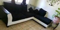 black and white sectional couch Fort Lauderdale, 33314