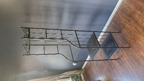 Metal stand w/ shelves  3
