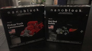 Nanoblocks Pickup Truck & Hot Rod
