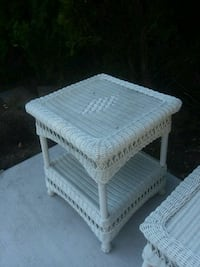 white wicker 2-layer rack Farmingdale, 11735