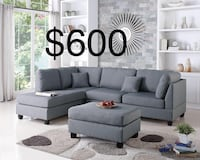 New gray sectional couch  Westminster