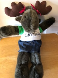 "Adopt A Bear "" Happy Birthday Moose"", 18"" Plush Stuff Toy Baltimore, 21236"