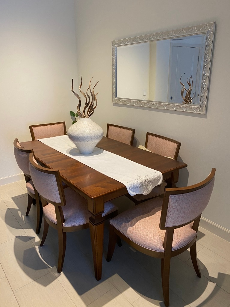 Photo Ethan Allen Dining Room Collection Avery Table and Adrian Cahirs