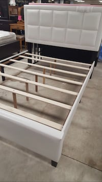 Brand new queen size white platform bed frames Silver Spring, 20902