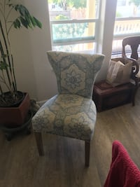 two white and brown floral padded armchairs Oakland, 94612