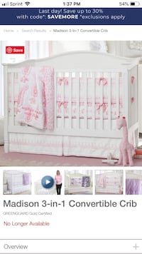 Pottery Barn Kids 3 in 1 crib Kensington, 20895