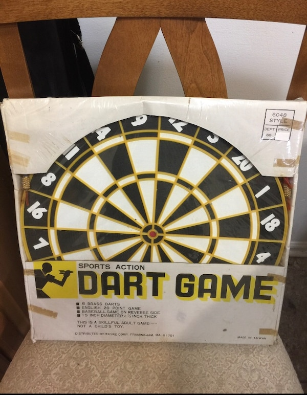 Vintage dart bars with darts new old stock