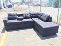 gray and black sectional couch Vaughan, L4L 6C7