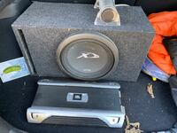 Alpine type x sub with two amps and comp