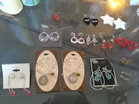 Earrings and neclaces