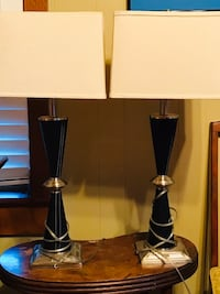 black and white table lamp 1028 mi