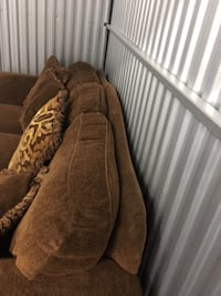 Brown sofa. Open to taking offers.