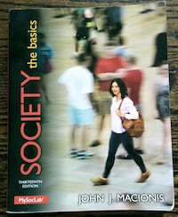"Sociology Textbook w/ eText ""Society the basics""  price Reduced"
