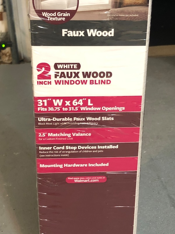 "Faux wood white blinds. Better Homes & Gardens 2"" 96e88fde-60f4-4d63-8c3b-67f82a0dd2e5"