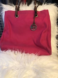AUTHENTIC Magenta MICHAEL KORS Large Canvas Tote