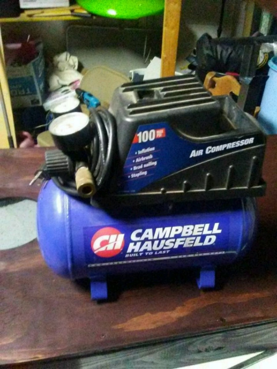 blue and black Campbell Hausfeld air compressor for sale  Montrose