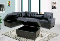 Brand New Black Faux Leather Sectional Sofa Couch  Wheaton-Glenmont, 20902