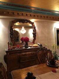 Wood & Marble Dresser or Server with Armoire Windermere, 34786